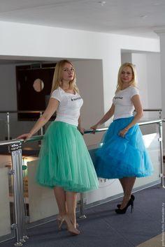 Купить Юбочка-шопенка (мятного цвета) - мятный, фатин, фатиновая юбка, еврофатин, пачка, шопенка