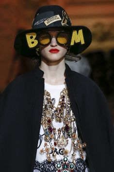 Sunglasses from the Dolce and Gabbana Fall RTW 2018 Show in Milan