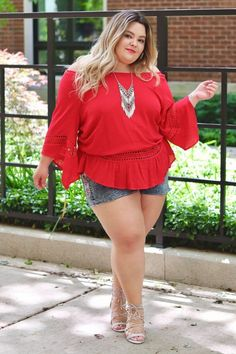 Red outfit summer