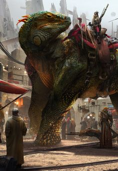 Fantasy Art Watch — The Bazaar by Eddie Mendoza Fantasy Concept Art, Sci Fi Fantasy, Fantasy Artwork, Fantasy World, Fantasy Creatures, Mythical Creatures, Dungeons And Dragons, Historia Natural, Fantasy Beasts