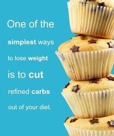Want to lose weight? Avoid refined carbs! #weightloss #carbs #sugar #health