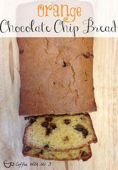 Orange Chocolate Chip Bread - Orange & Chocolate combine for a flavorful & delicious quick bread.