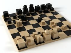 Naef toys Bauhaus chess pieces 3d model | Josef Hartwig