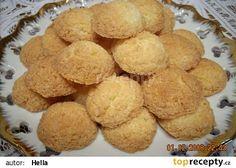 Trochu moc upečené kokosky Slovak Recipes, Czech Recipes, Ethnic Recipes, Christmas Baking, Christmas Cookies, Cooking Cookies, Nom Nom, Bakery, Snack Recipes