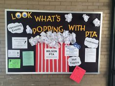 PTA bulletin board- We need something like this in the office or hallway.