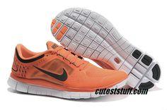 Womens Nike Free Run 3 Orange Black Shoes