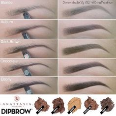 *NEW* Anastasia Beverly Hills Dipbrow! I MUST have this! I have been waiting forever for a multicolor line of eyebrow creams ! #blonde #darkbrown #chocolate @Crystal Chou Chou Lopez °•°• Tamanna Roashan •°•°! @Crystal Chou Chou Chou Chou Lopez Instagram photos | Webstagram