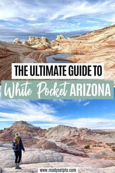 White Pocket, located in Northern AZ in the area of Vermillion Cliffs National Monument, is a super unique spot that literally looks like you've stepped onto another planet. If you're looking for something awesome to do in the Northern Arizona/Southern Utah area, or searching for an alternative to The Wave hike if you didn't win the permit lottery, White Pocket is it! Check out my blog for the details!   Travel Arizona | Travel Utah Usa Travel Guide, Travel Usa, Travel Guides, Travel Tips, Arizona Travel, Arizona Trip, The Wave Hike, Us Road Trip, National Parks Usa