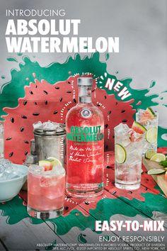 Summer Drinks, Cocktail Drinks, Alcoholic Drinks, Cocktails, Beverages, Watermelon Vodka Drinks, Vodka Recipes, Alcohol Drink Recipes, Deserts