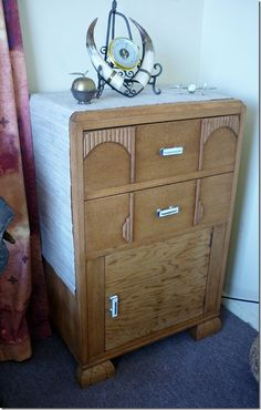 Fully restored art deco side cabinet...... with tips on restoring damaged Bakelite handles