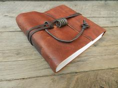 Handmade Leather Bound Journal Guest Book Photo Album Travel Diary 7 1/2 x 6 3/4 via Etsy