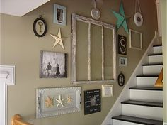Could create something similar for the basement stairway (slightly different theme but like the big pieces look)...