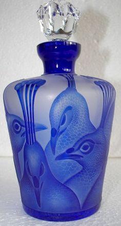 Antique Czech Glass Perfume Bottle