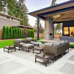 Backyard Patio Designs, Backyard Landscaping, Backyard Seating, Small Patio Design, Outdoor Rooms, Outdoor Furniture Sets, Outdoor Decor, Outdoor Living Areas, Furniture Decor