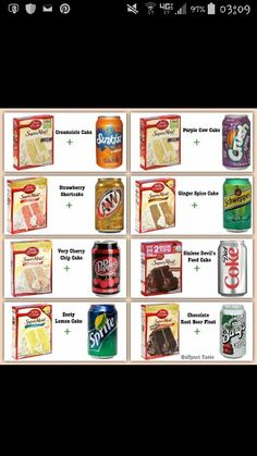 Add 1 can of your choice of carbonated beverage to the cake mix and bake as directed per the directions on the box