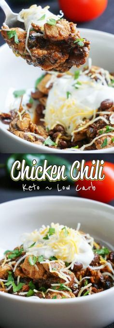 Our Low Carb Chili uses chicken and bacon to create a flavorful, hearty go to dinner for any night of the week!