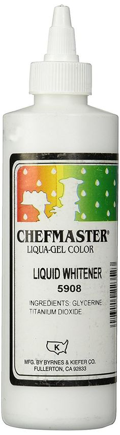 Chefmaster Liquid Whitener Food Color, 16-Ounce, White ** Insider's special review you can't miss. Read more