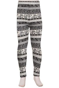 Leggings for Girls Juniors Tweens Elephant Printed MomMe And More – MomMe and More