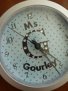 Practical and functional! Love! Personalized Clock, Handmade Gifts for Teacher