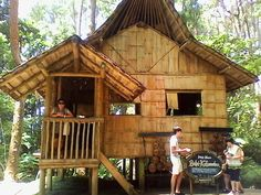 """A replica of """"bahay kubo"""" the style of houses in the past. Bahay Kubo, Farm Stay, Sweet Girls, Houses, Cabin, Mood, Park, House Styles, Nature"""