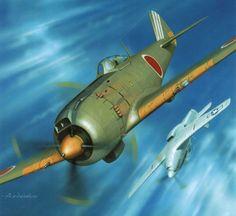 Nakajima Ki-84 Hayate y P-51.
