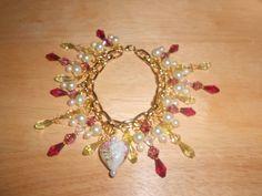 OOAK Beaded Charm Bracelet ~ Valentine's Day!! by TrendyCharm on Etsy