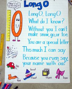 A cute poem to remember the long 'o' sound