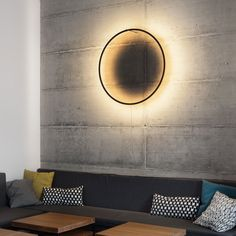 The Eclipse is a lamp that handles the absence of natural light with equal grace as it does the abundance of it. Designed by Tilen Sepič. Metal Walls, Metal Wall Art, Roman Clock, Deco Originale, Metal Clock, Luminaire Design, Wooden Lamp, 3d Max, Light Art
