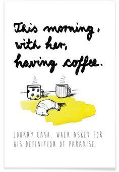 This morning with her als Premium Poster von PETERSEN | JUNIQE