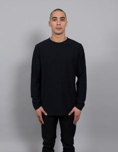 NP NIELS COTTON LINEN STRIPE LS BLACK - BRANDS-NORSE PROJECTS : AREA 51 - NORSE PROJECTS S16