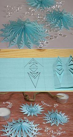 les mains de flocon de neige 3D.  flocons de neige 3d avec leurs mains à partir d'un papier |  Tous les travaux d'aiguille: le régime, des classes de maître, le site des idées de
