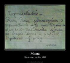 Mama – Mistrz mowy polskiej 1999