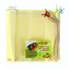 5 sacs à fruits et légumes en coton BIO - SeBio