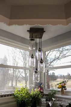 DIY Mason Jar Chandelier. Click for the full tutorial