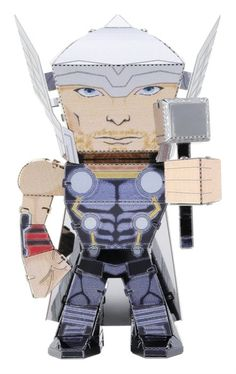 Miniature — Easy to assemble One x full color steel sheet Caricature ModelsDifficulty:EasyAssembled x x Marvel Avengers, Metal Earth Models, Metal Models, Caricatures, Die Rächer, Earth 3d, Metal Model Kits, Metal Puzzles, Thor 2