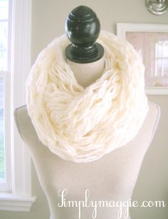 Soft Cream Arm Knit Infinity Scarf @Charlene Saunders Day this is what I wanttt