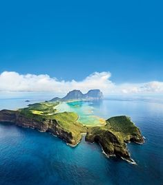 An aerial view of Australia's Lord Howe Island, a two-hour flight from Sydney. (From: 12 Best Places You've Never Heard Of)