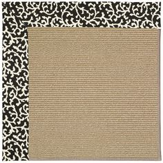 Capel Zoe Brown Area Rug Rug Size: Square 6'