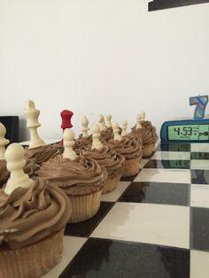 Chess cupcakes