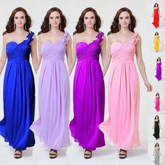 >> Click to Buy << 0070 light purple skin pink one shoulder flower -belt chiffon plus size formal gown evening dresses fashional design #Affiliate