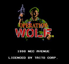 Operation Wolf. I only ever played this in the arcades. It was one of the first machines I can recall that had a gun attached rather than a joystick and buttons.