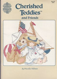 Cross Stitch Pattern Cherished Teddies 16 Teddy Bears Toys Dolls Gloria & Pat #JeanetteCrews #Variety