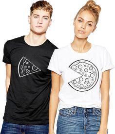 Pizza Matching T Shirt Couple Valentines Gift Girlfriend Boyfriend Couple Wifey