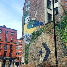 Spring in Manchester #manchester #streetart #pretty #spring #graffiti #colour #design by esmeukdesign
