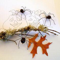 Three Small Handmade Hanging Black Widow by SpiderwoodHollow, $24.00