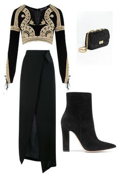 """queenin"" by lxcia-xx on Polyvore featuring Ann Demeulemeester, For Love & Lemons and Gianvito Rossi"