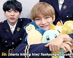 """booptae: """"""""""""taehyungie is cute"""" (trans) """" """""""