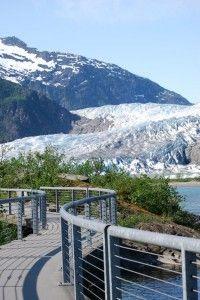 JUNEAU - Mendenhall Glacier - 12 miles of ice and waterfalls...a fun Alaska travel experience.