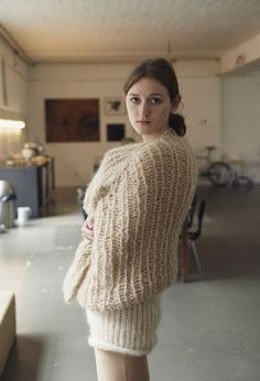 Mohair, piss and much more. Knitwear Fashion, Knit Fashion, Women's Fashion, Fashion Agency, Angora Sweater, Turtleneck, Knitted Cape, Thick Sweaters, Cowgirl Outfits