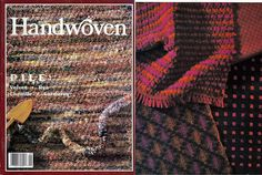 Handwoven / Pile: Weaving Magazine and Pattern Book September/October 1992…
